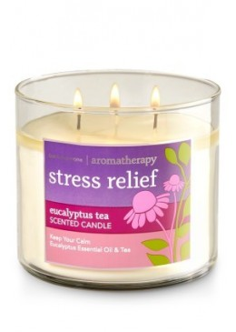 Bougie 3 Mèches Stress Relief Tea Bath and Body Works