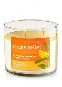 Bougie 3 Mèches Stress Relief Tangerine Bath and Body Works