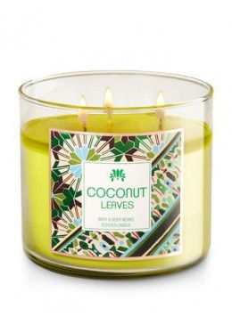 Bougie 3 Mèches Coconut Leaves Bath and Body Works