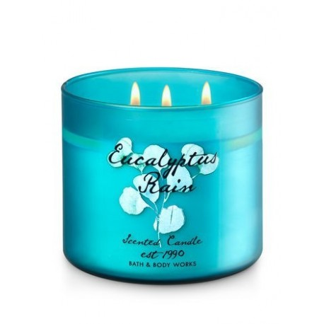 Bougie 3 Mèches Eucalyptus and Rain Bath and Body Works