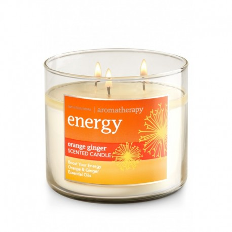 Bougie 3 Mèches Energy Orange Ginger Bath and Body Works