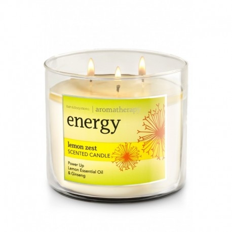 Bougie 3 Mèches Energy Lemon Zest Bath and Body Works