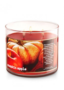 Bougie 3 Mèches Pumpkin Apple Bath and Body Works