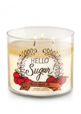 Bougie 3 Mèches Warm Apple Pie Bath and Body Works