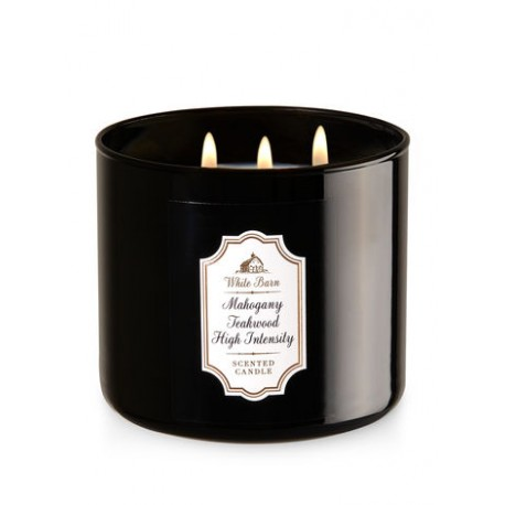 Bougie 3 mèches Mahogany Teakwood High Intensity  Bath and Body Works