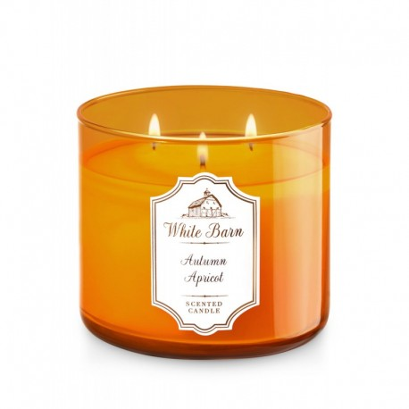Bougie 3 mèches Autumn Apricot Bath & Body Works