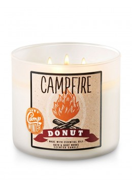 Bougie 3 meches Campfire Donut