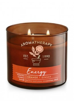 Bougie 3 mèches Aromathérapie Energy Bath & Body Works