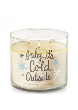 Bougie 3 mèches Baby It's Cold outside Bath & Body Works