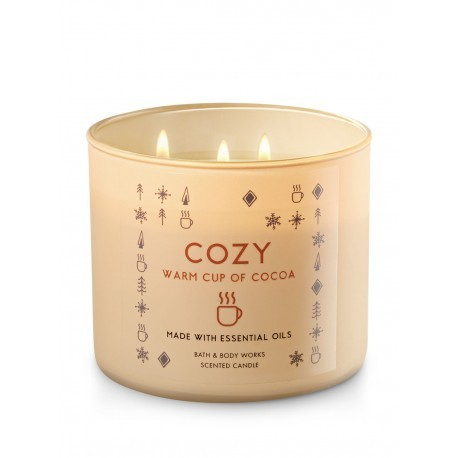 Bougie 3 mèches Cozy Warm Cup of Cocoa Bath & Body Works
