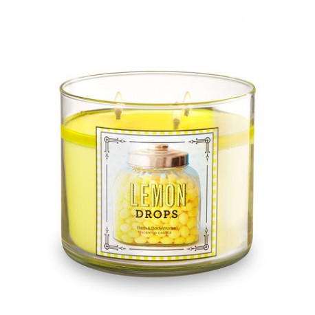 Bougie 3 mèches Lemon drops Bath & Body Works