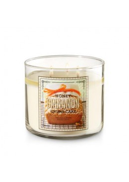 Bougie 3 mèches Honey Cinnamon Crumb Cake Bath & Body Works
