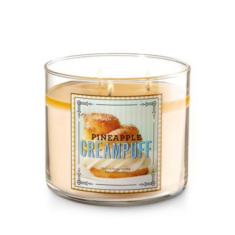 3 wick candles Pineapple cream Puff Bath & Body Works