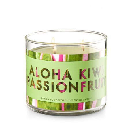 Bougie 3 mèches Aloha Kiwi passionfruit Bath and Body Works