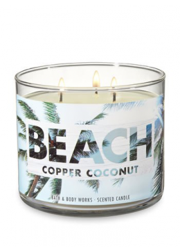 Bougie 3 mèches Beach Copper Coconut Bath & Body Works