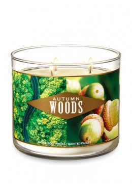 Bougie 3 mèches Autumn Woods Bath & Body Works