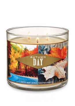 Bougie 3 mèches Autumn Day Bath & Body Works