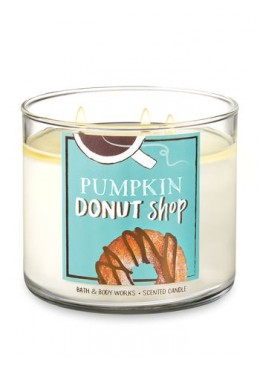Bougie 3 mèches Pumpkin Donut Shop Bath & Body Works