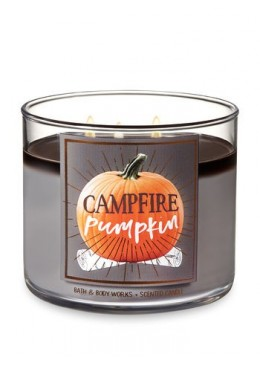 Bougie 3 mèches Campfire Pumpkin Bath & Body Works