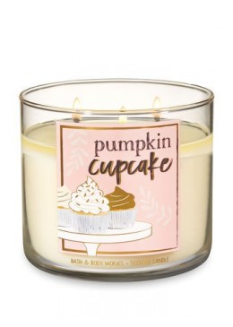Bougie 3 meches Pumpkin Cupcake Bath & Body Works