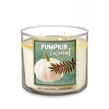 Bougie 3 Mèches Pumpkin Coconut Bath and Body Works