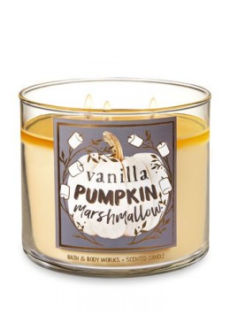 Bougie 3 Mèches Vanilla Pumpkin Marshmallow Bath and Body Works
