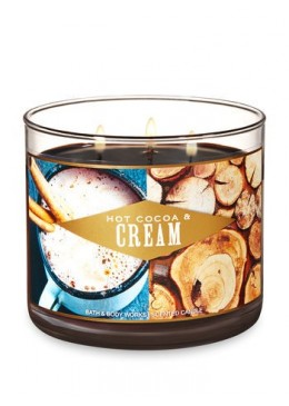 Bougie 3 Mèches HOT COCOA & CREAM Bath and Body Works