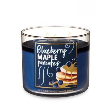 Bougie 3 mèches Blueberry Maple Pancakes Bath & Body Works