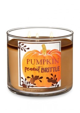 Bougie 3 mèches Pumpkin Peanut Brittle Bath & Body Works
