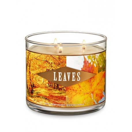 Bougie 3 meches Leaves Bath & body Works